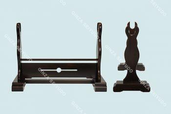組立式刀掛(1本黒檀)-600idx